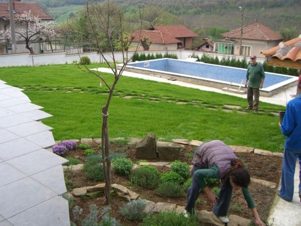 landscaped bulgarian property