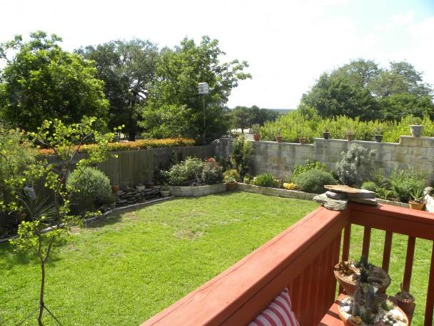 house with green garden