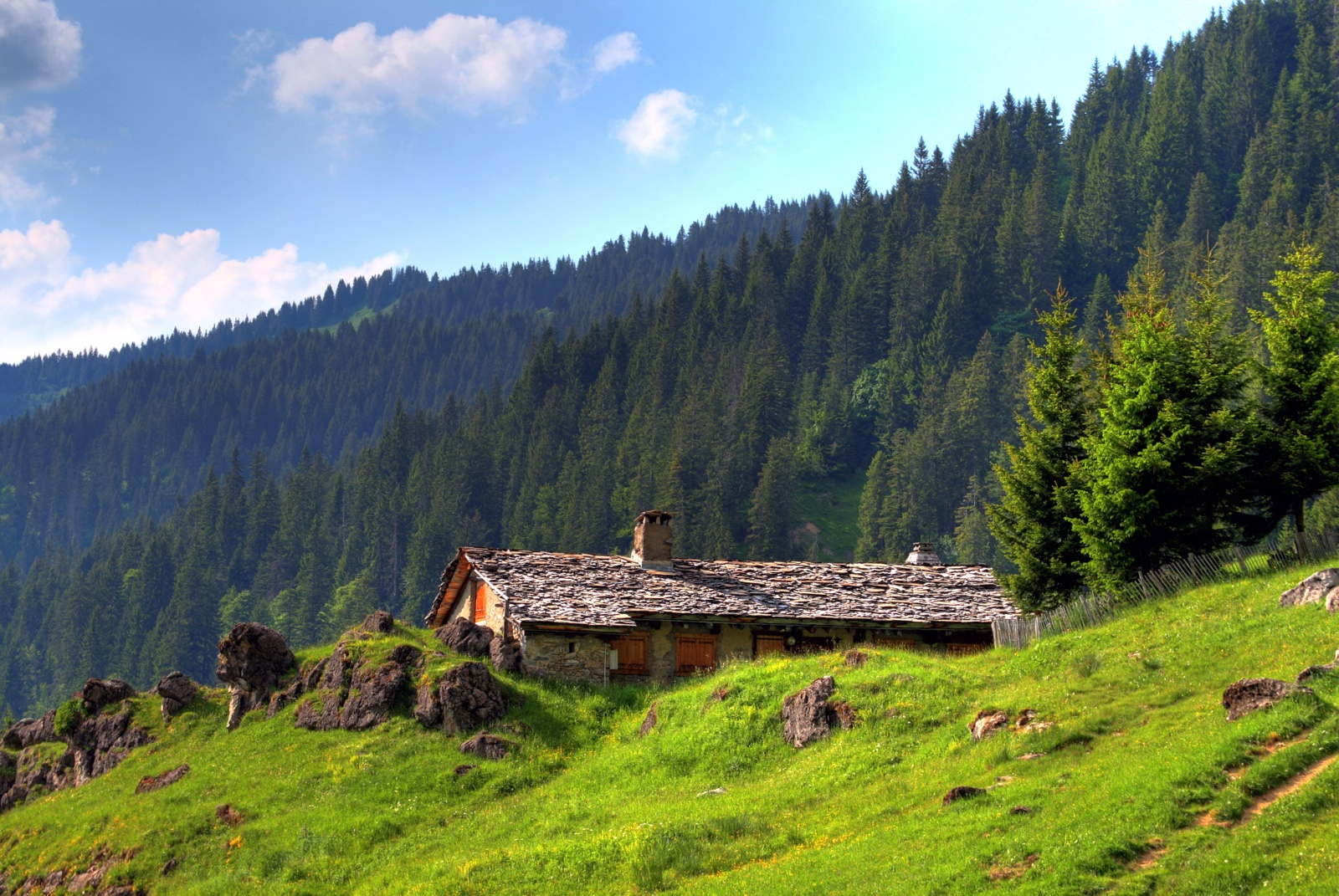 cottage in the mountain