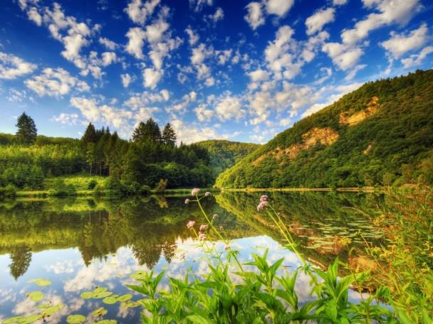 bulgarian countryside- lake view