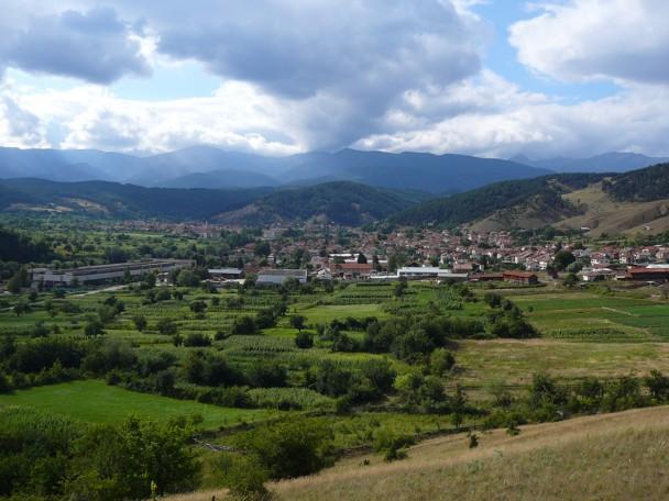 Bulgarian town view