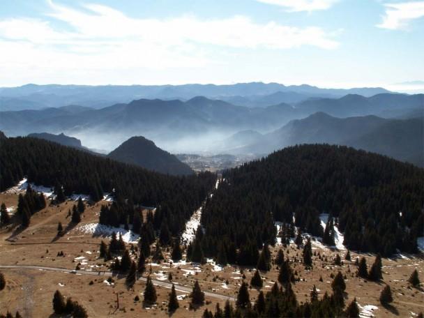 Rodopi mountain view