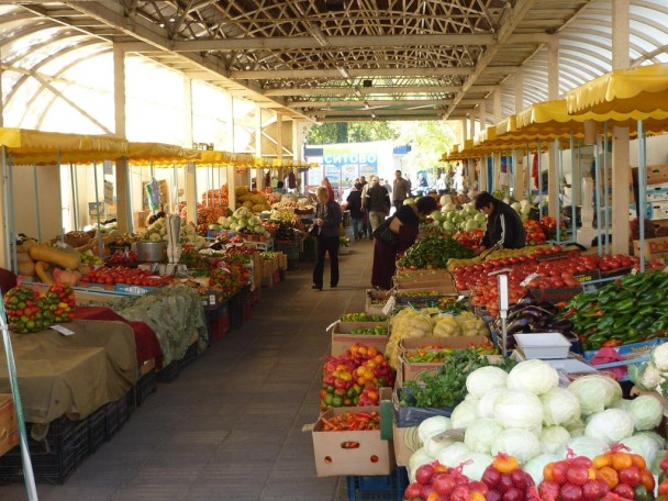 vegetables store in Bulgaria