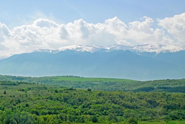 green countryside in Bulgaria