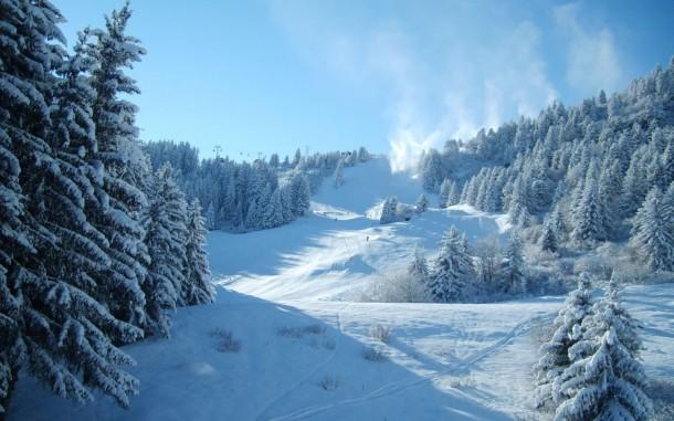 snowy ski pistes