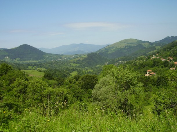 green hills in Bulgaria