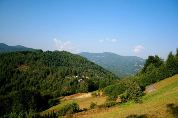 green mountains in Bulgaria